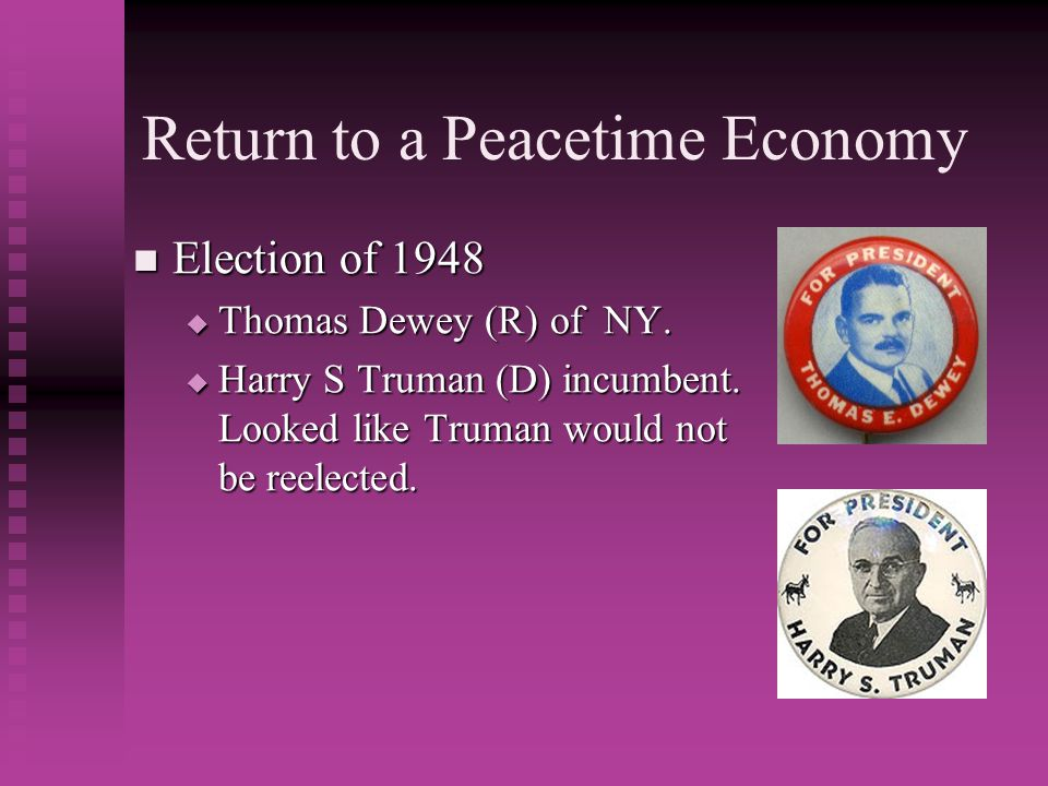 Return to a Peacetime Economy