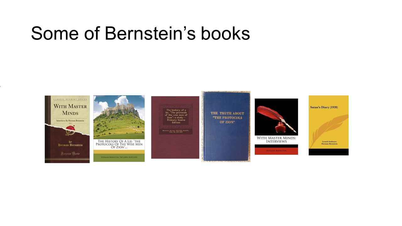 Some of Bernstein's books