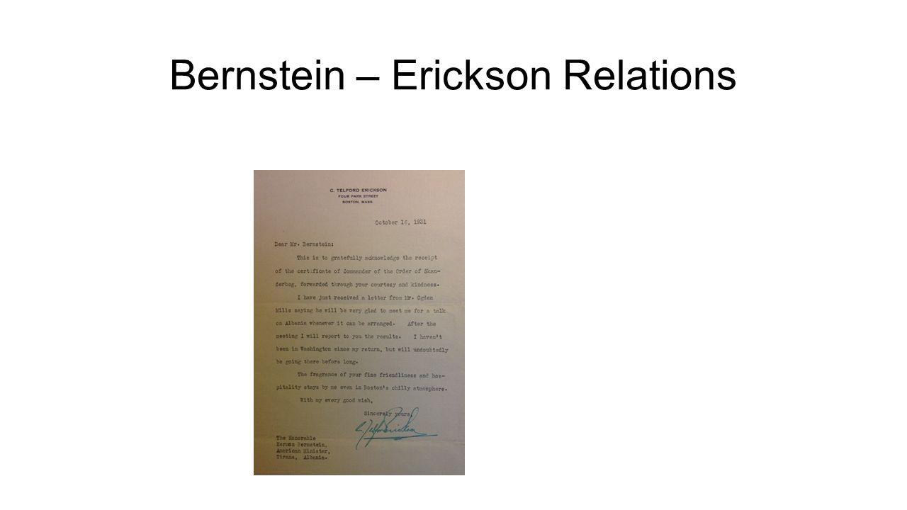 Bernstein – Erickson Relations