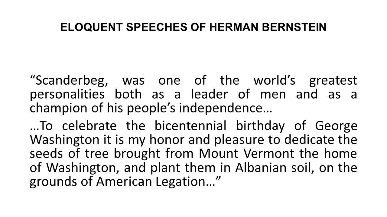 ELOQUENT SPEECHES OF HERMAN BERNSTEIN