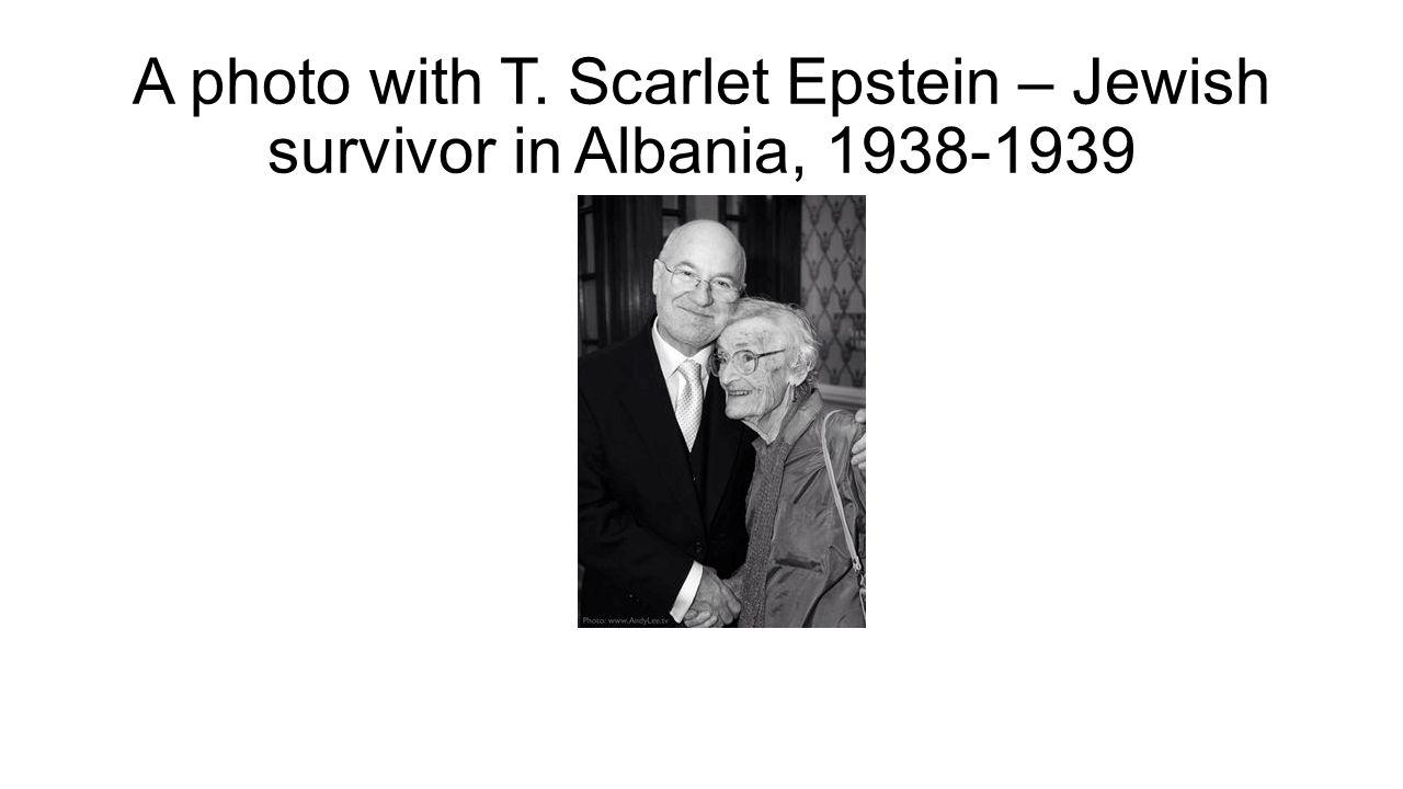 A photo with T. Scarlet Epstein – Jewish survivor in Albania, 1938-1939