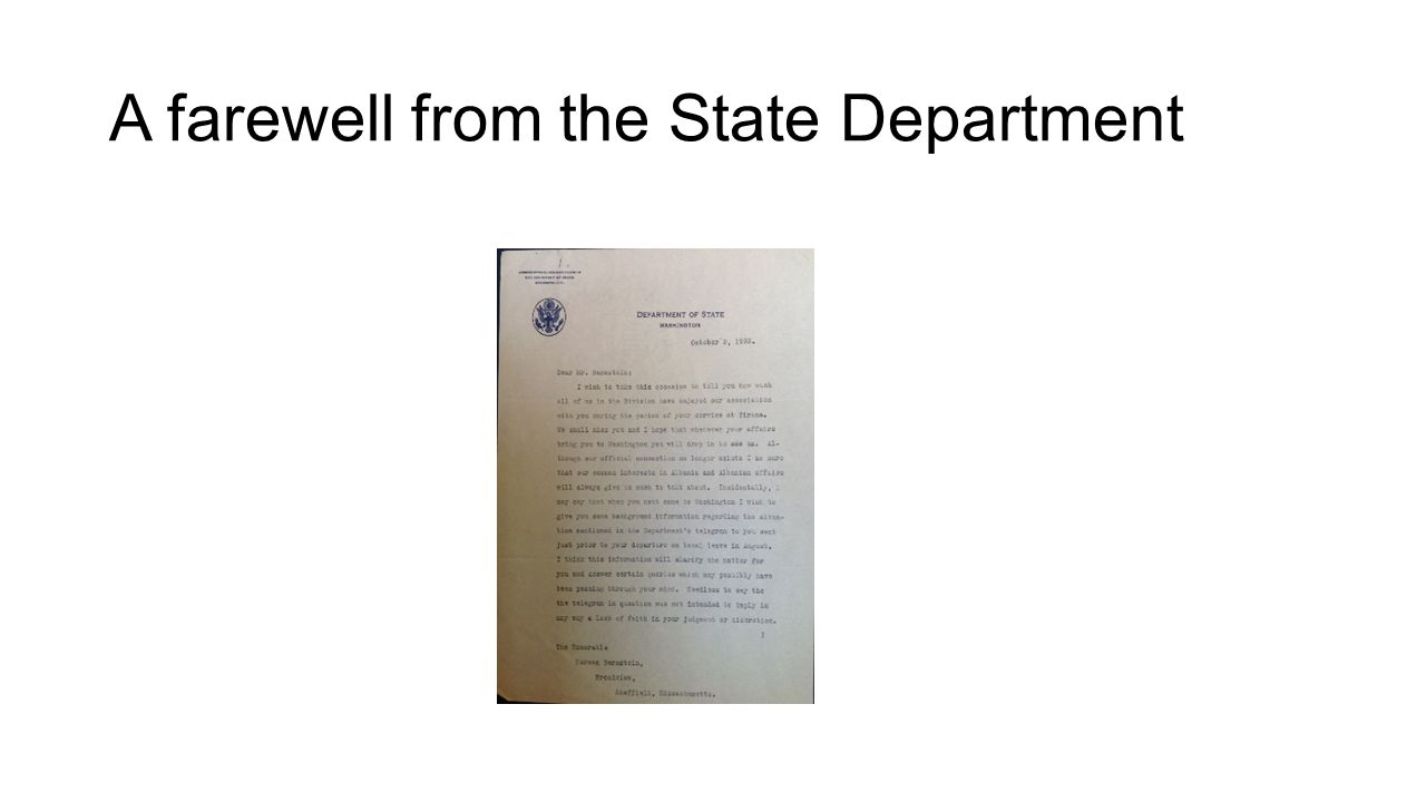 A farewell from the State Department