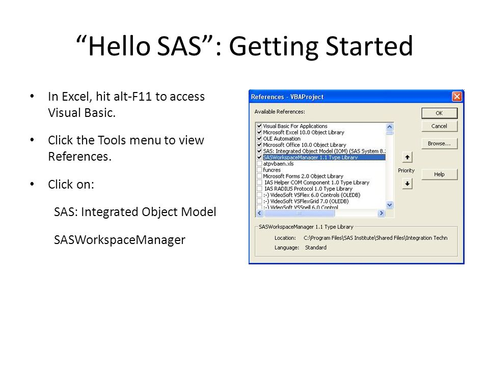 Hello SAS : Getting Started
