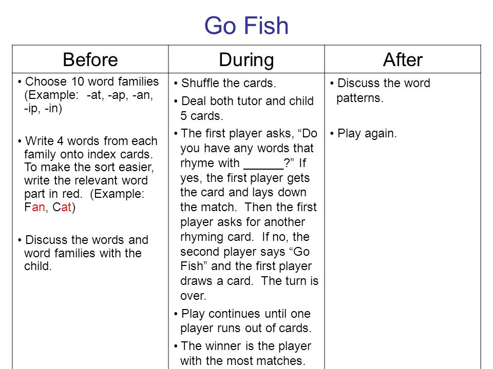 Go Fish Before During After