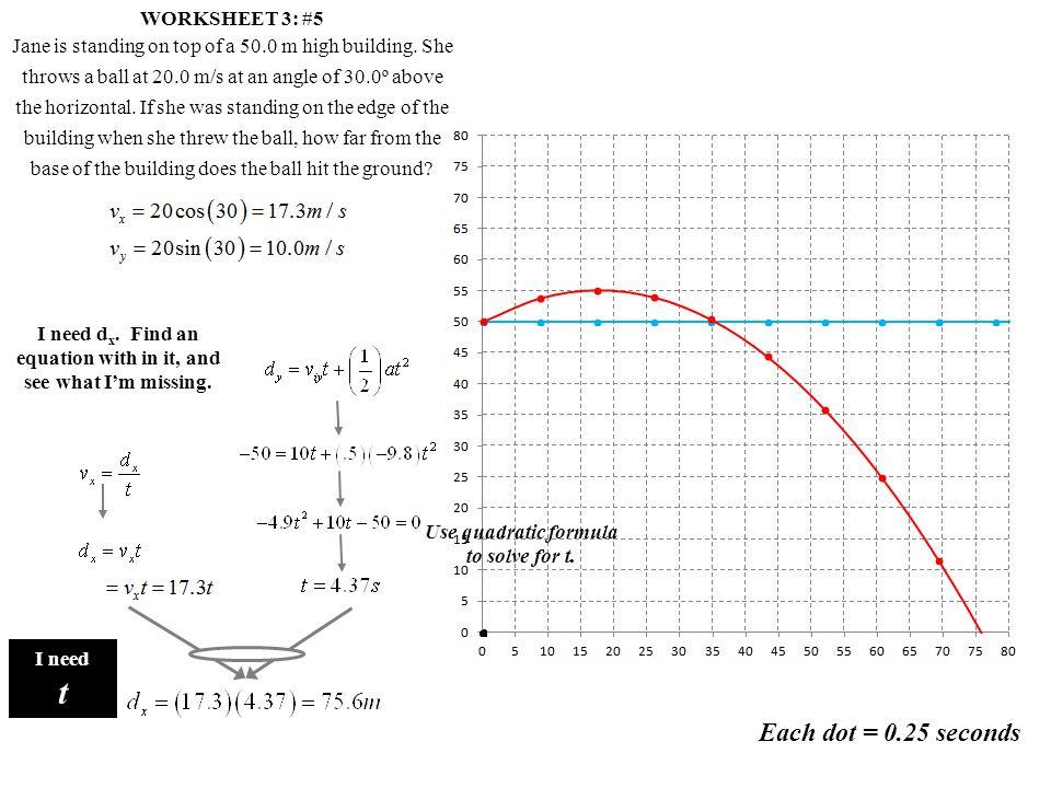 t Each dot = 0.25 seconds WORKSHEET 3: #5