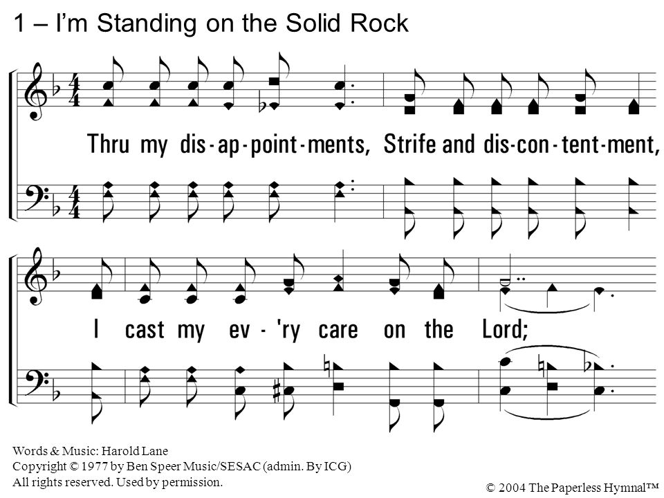 1 – I'm Standing on the Solid Rock