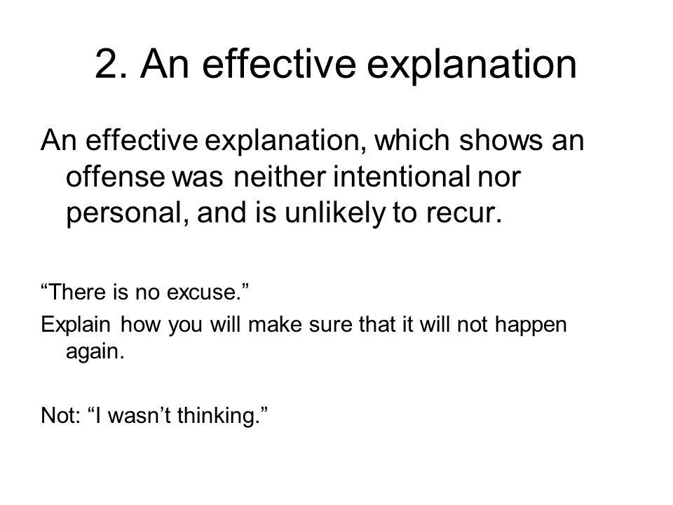 2. An effective explanation