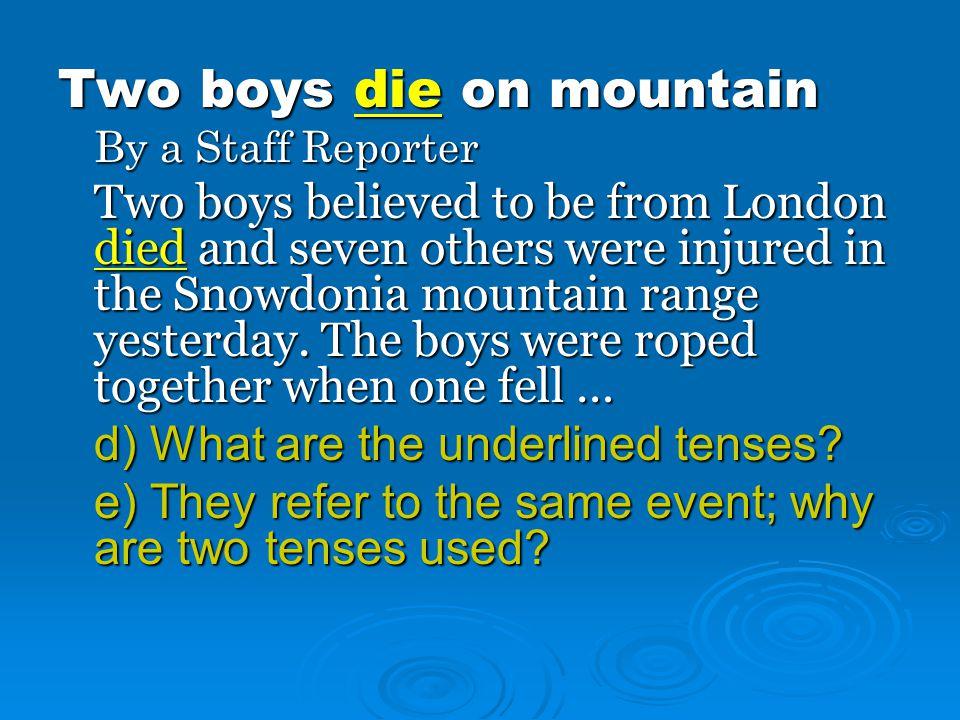 Two boys die on mountain