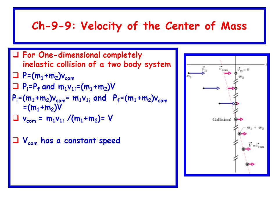 Ch-9-9: Velocity of the Center of Mass
