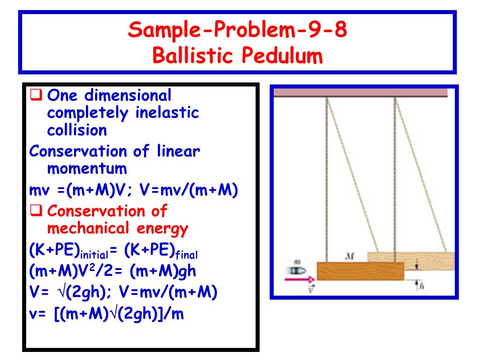 Sample-Problem-9-8 Ballistic Pedulum