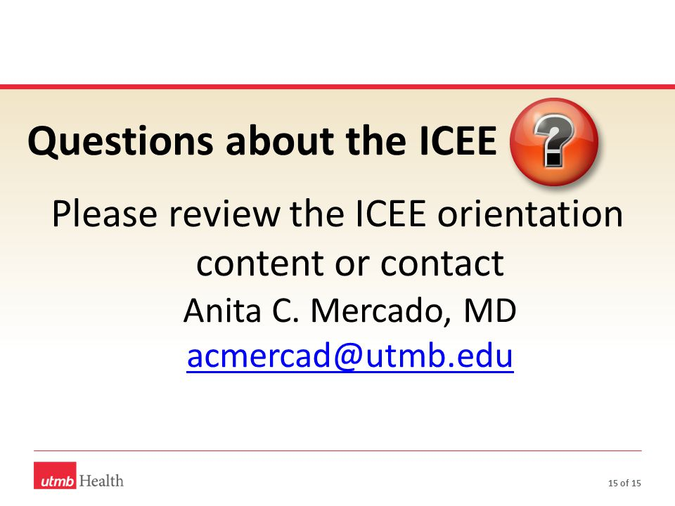 Questions about the ICEE