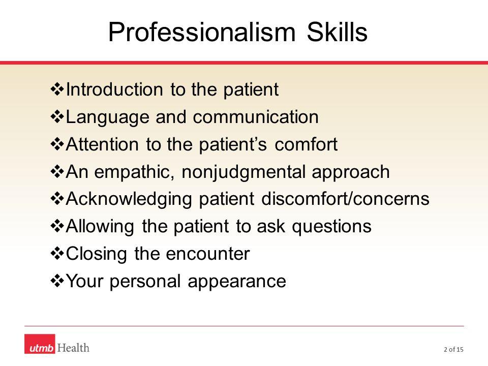 Professionalism Skills