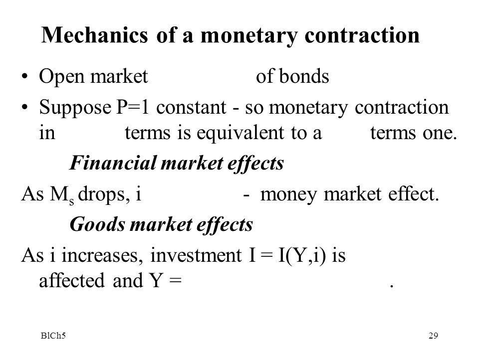 Mechanics of a monetary contraction
