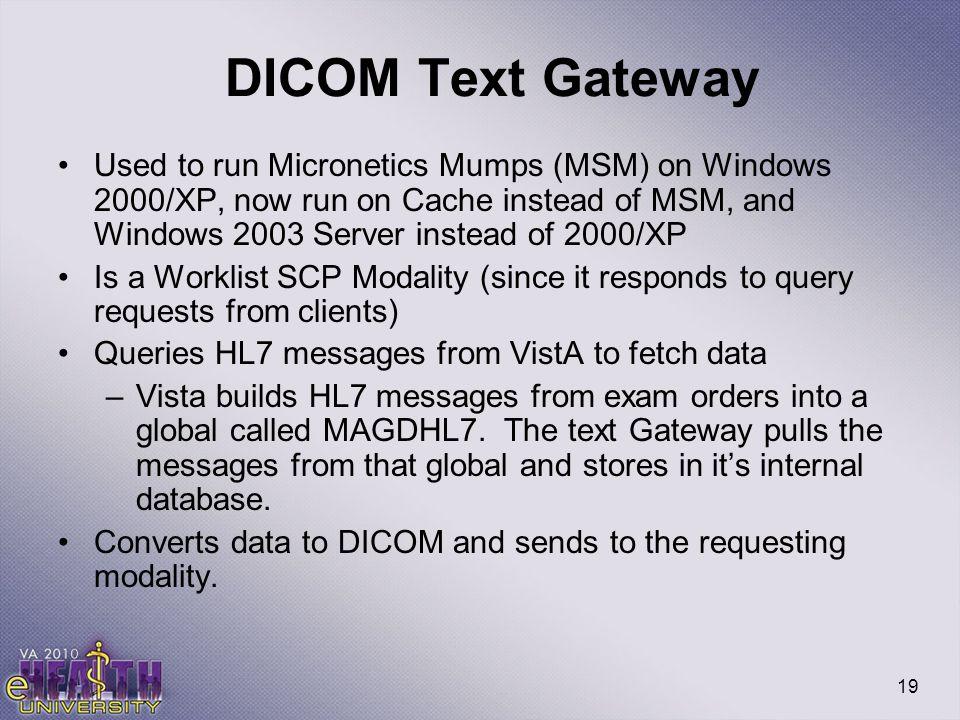 DICOM Text Gateway
