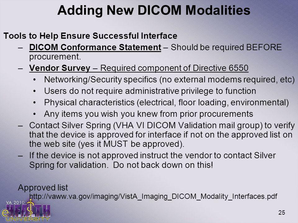 Adding New DICOM Modalities
