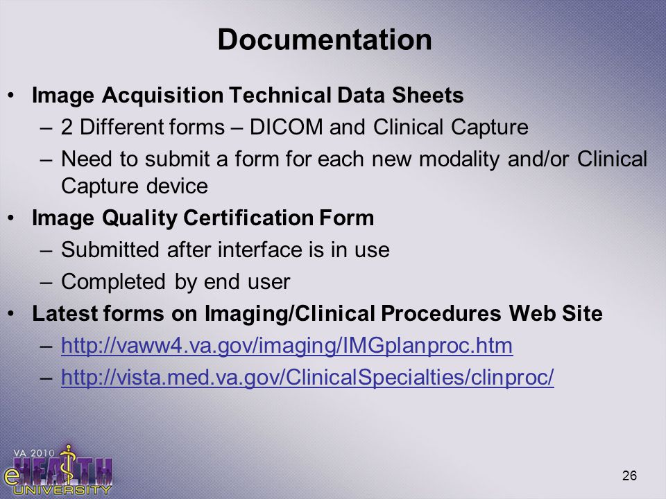Documentation Image Acquisition Technical Data Sheets