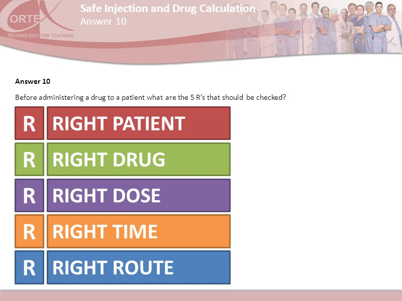 R R R R R RIGHT PATIENT RIGHT DRUG RIGHT DOSE RIGHT TIME RIGHT ROUTE