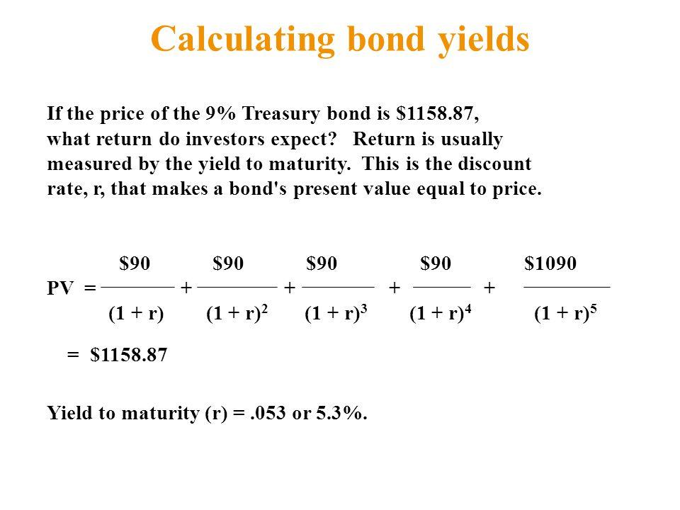 Calculating bond yields