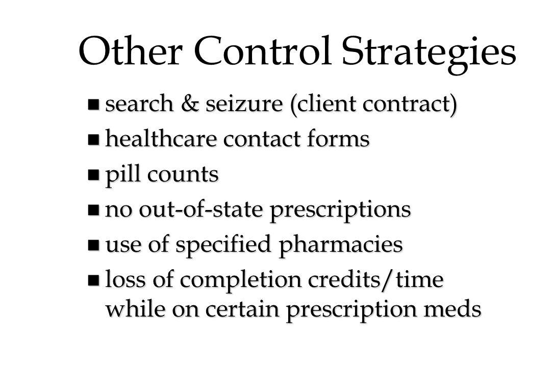 Other Control Strategies