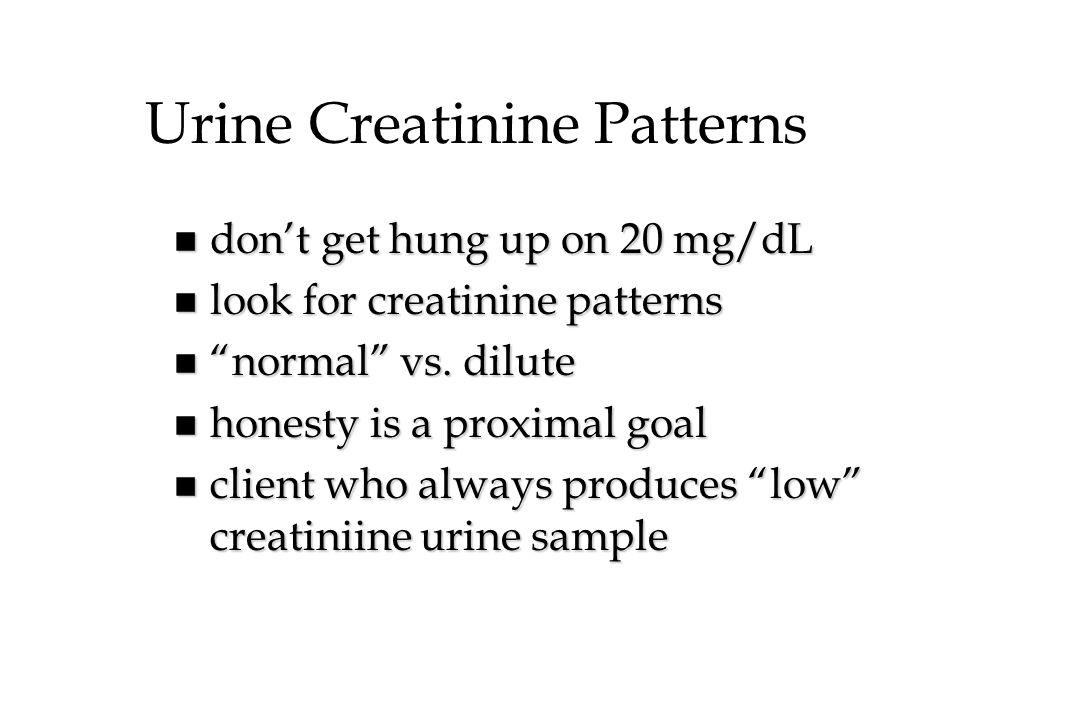 Urine Creatinine Patterns