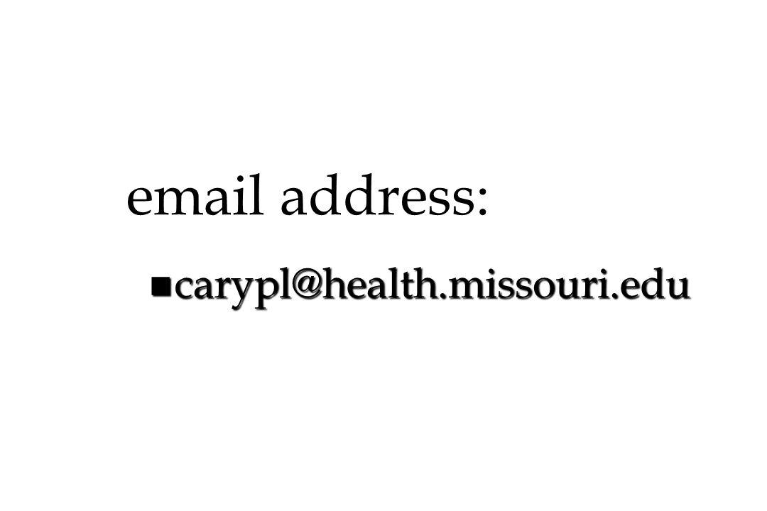 email address: carypl@health.missouri.edu