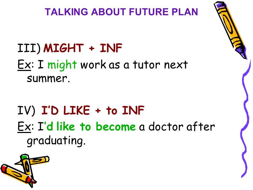 TALKING ABOUT FUTURE PLAN