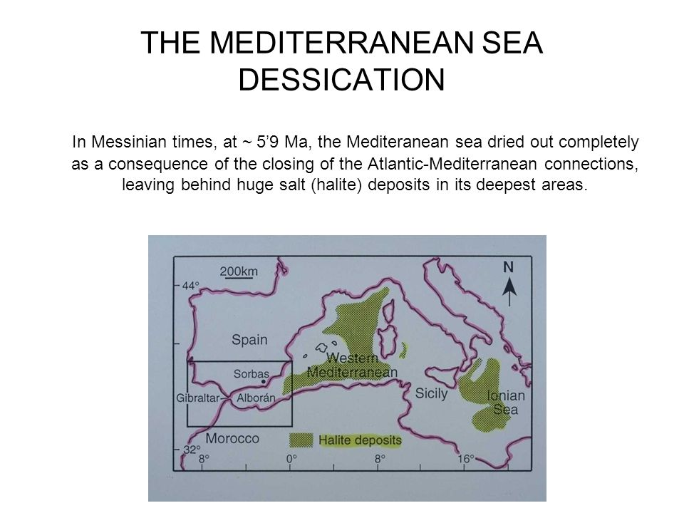 THE MEDITERRANEAN SEA DESSICATION