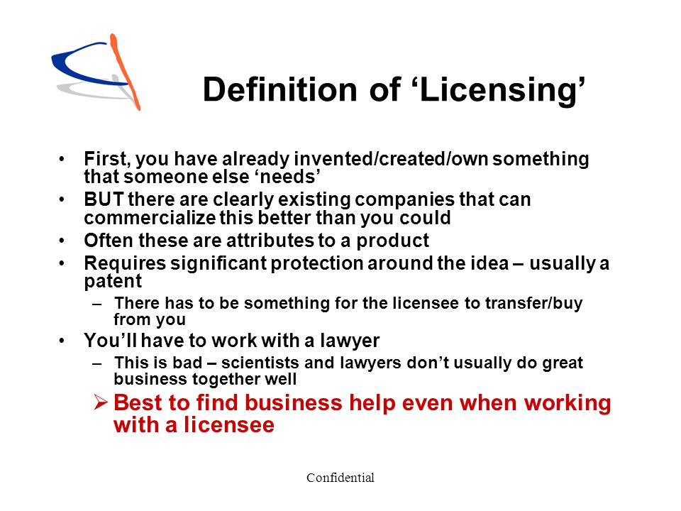 Definition of 'Licensing'
