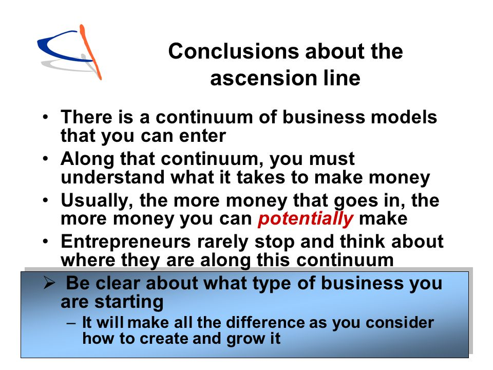 Conclusions about the ascension line