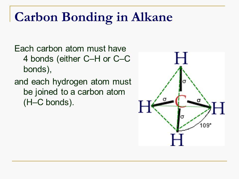 Carbon Bonding in Alkane