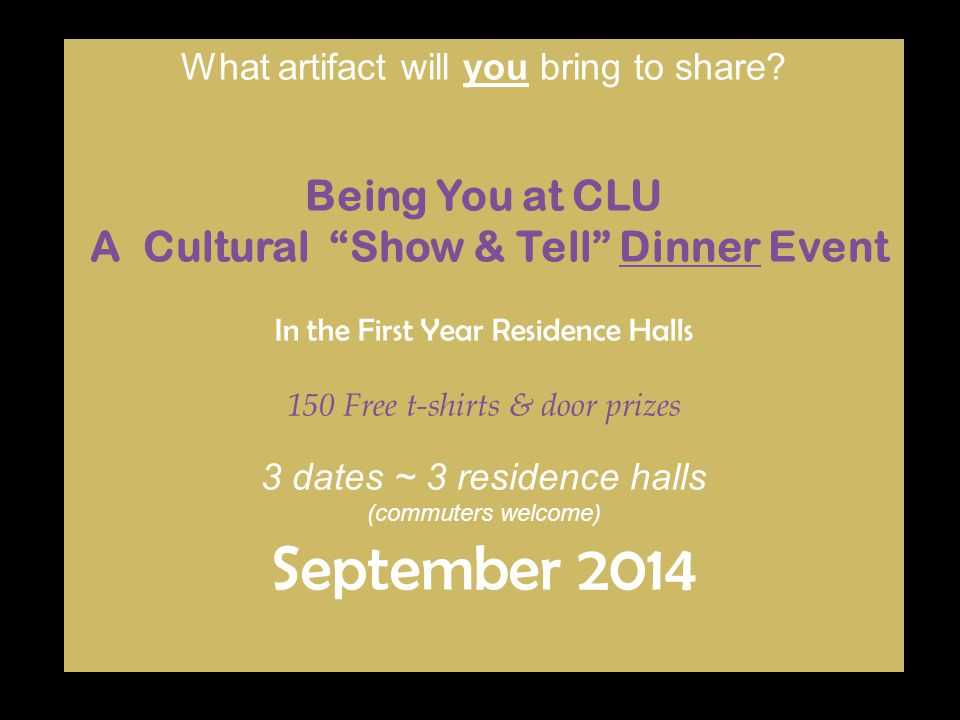 A Cultural Show & Tell Dinner Event