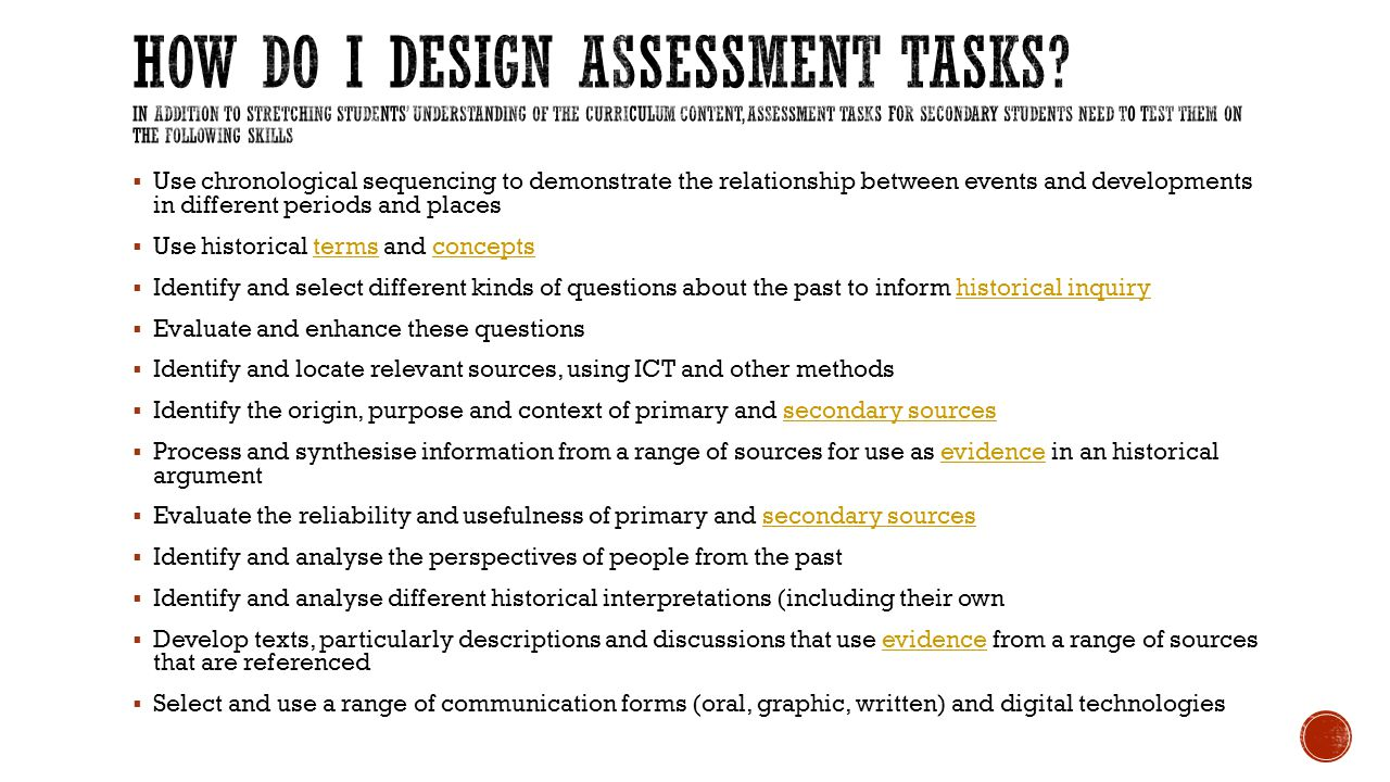 How do I design Assessment Tasks