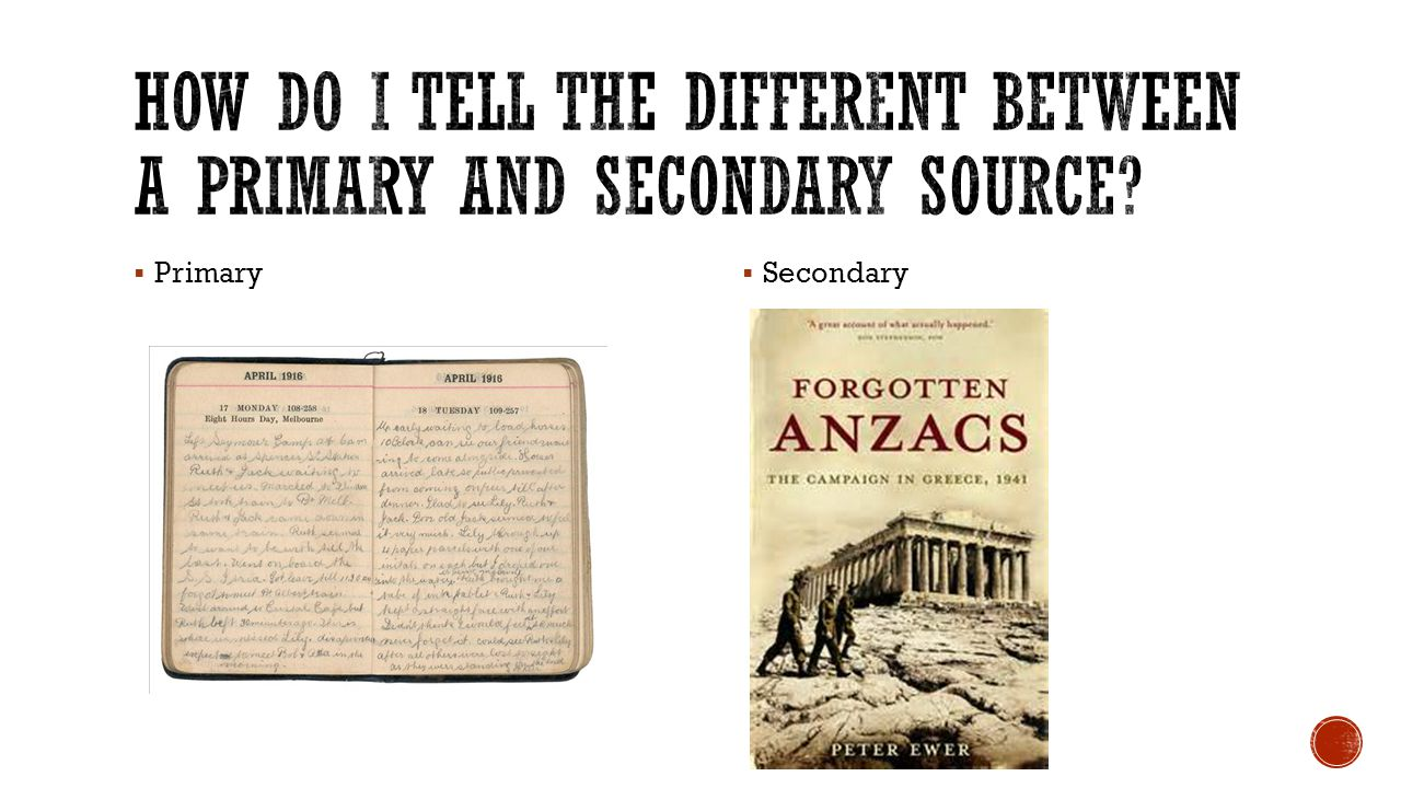 How do I tell the different between a Primary and secondary source