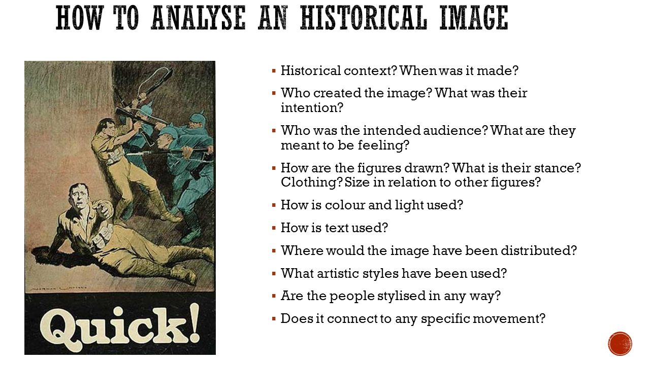 How to analyse an Historical Image