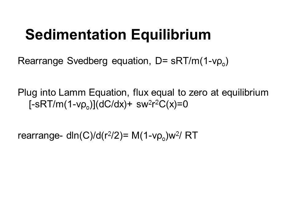 Sedimentation Equilibrium