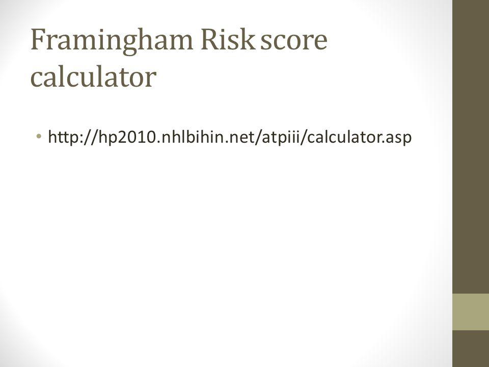 Framingham Risk score calculator