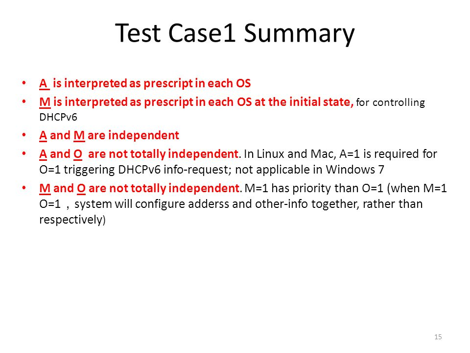 Test Case1 Summary A is interpreted as prescript in each OS