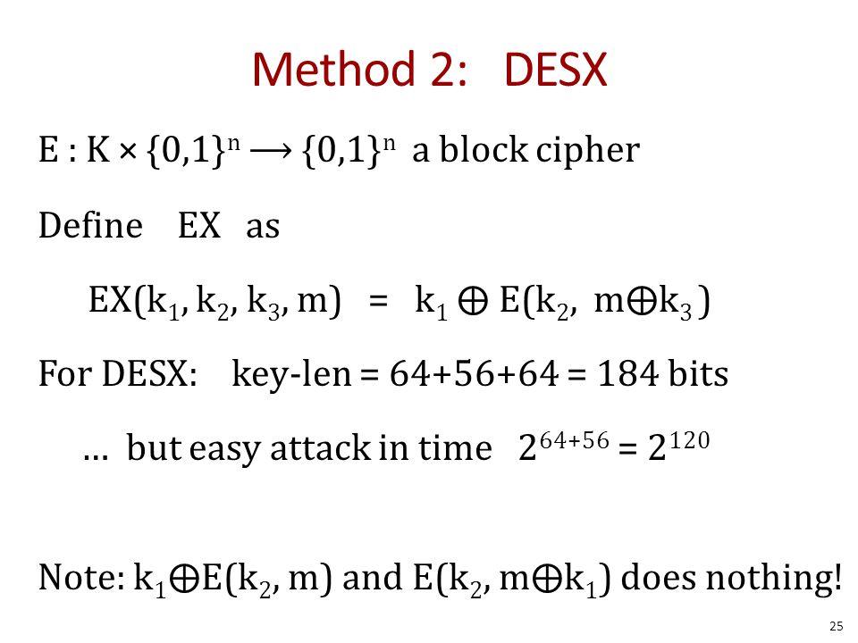 Method 2: DESX