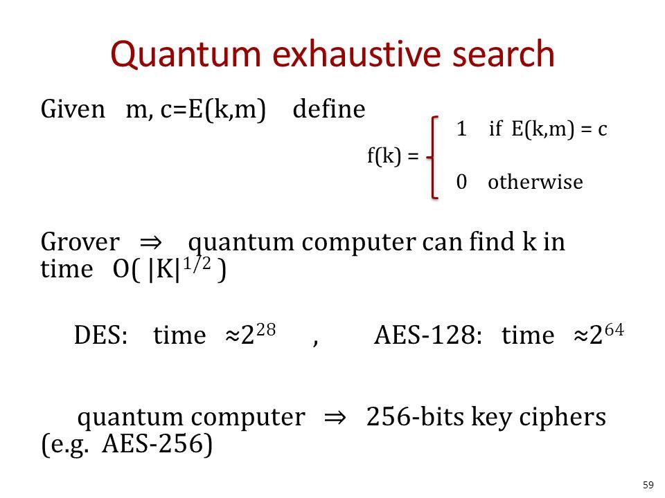 Quantum exhaustive search