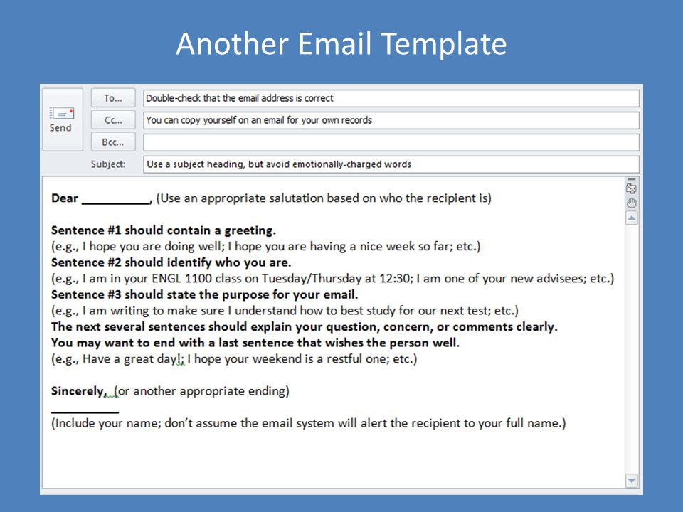 Another Email Template