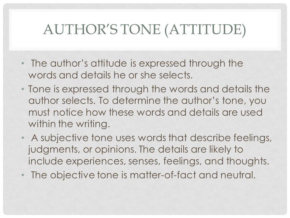 Author's tone (attitude)