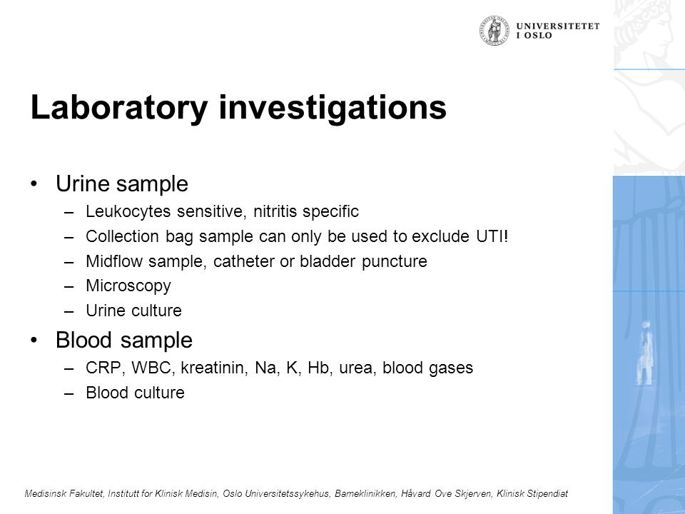 Laboratory investigations