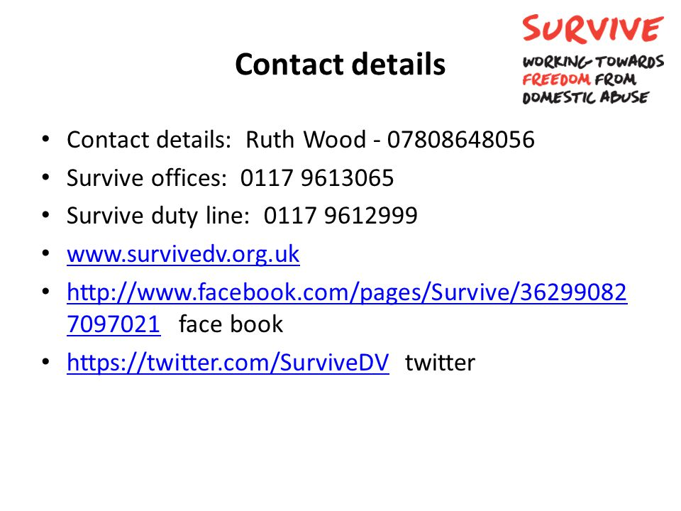 Contact details Contact details: Ruth Wood - 07808648056