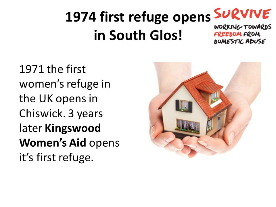 1974 first refuge opens in South Glos!