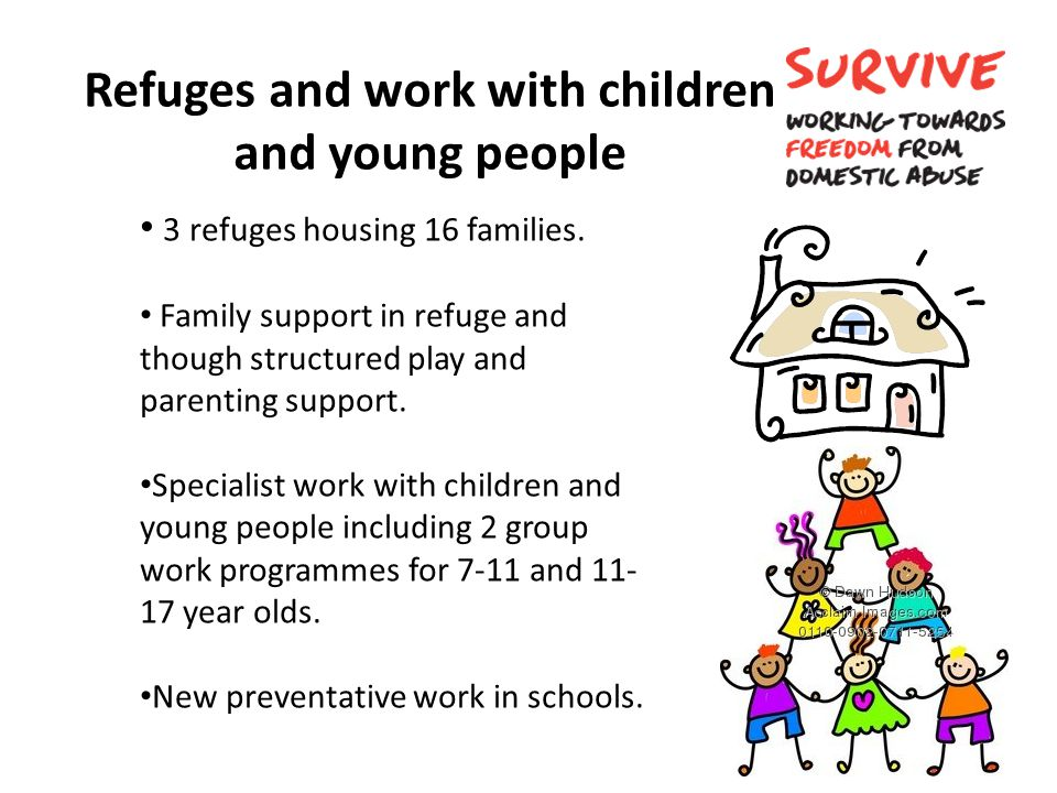 Refuges and work with children and young people