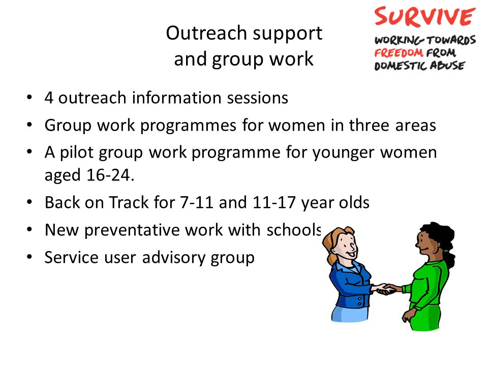 Outreach support and group work