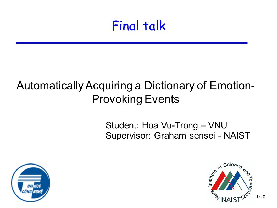 Automatically Acquiring a Dictionary of Emotion- Provoking Events