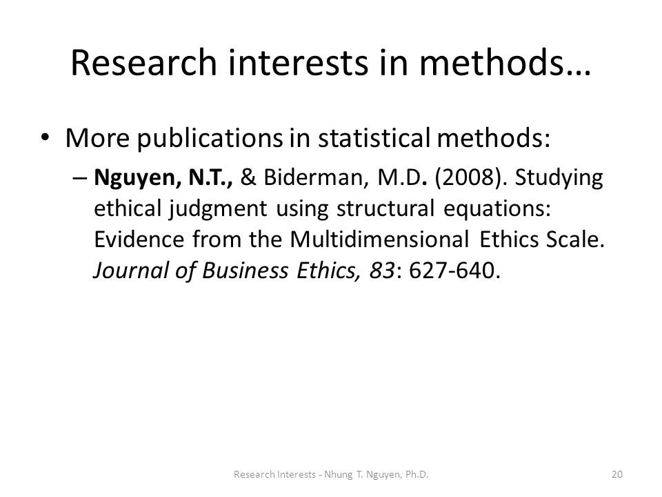 Research interests in methods…