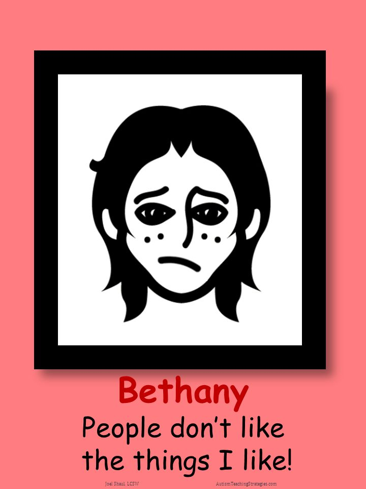 Bethany People don't like the things I like!