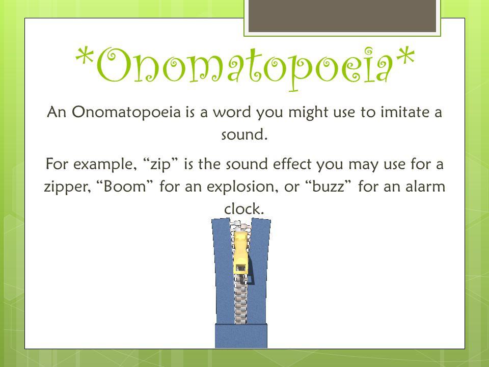 *Onomatopoeia*